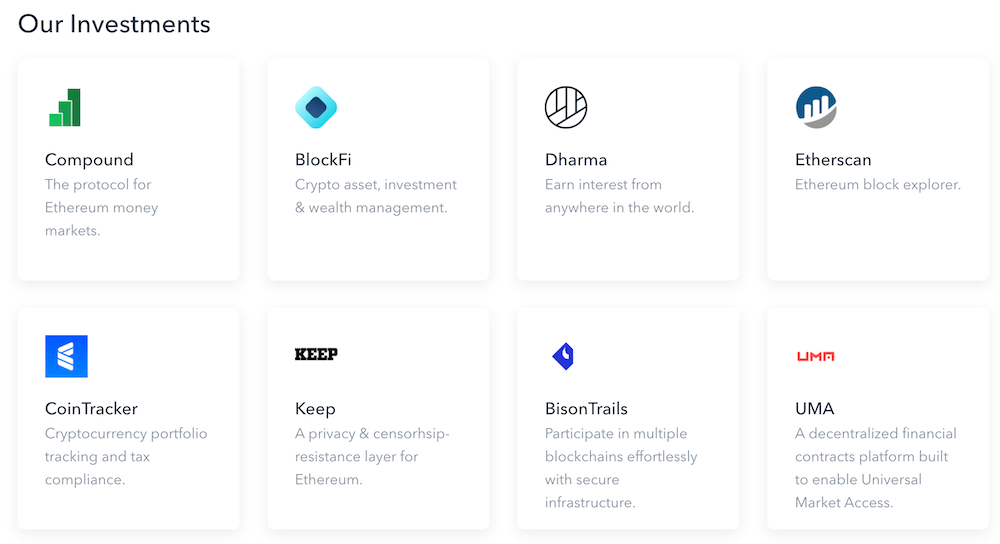 Coinbase Ventures   Investments