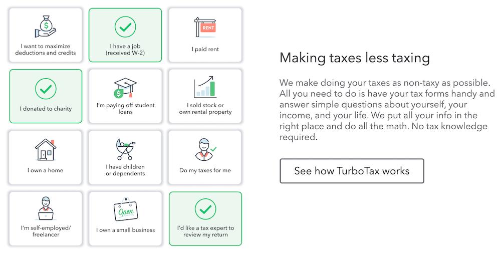 TurboTax   A la carte business model