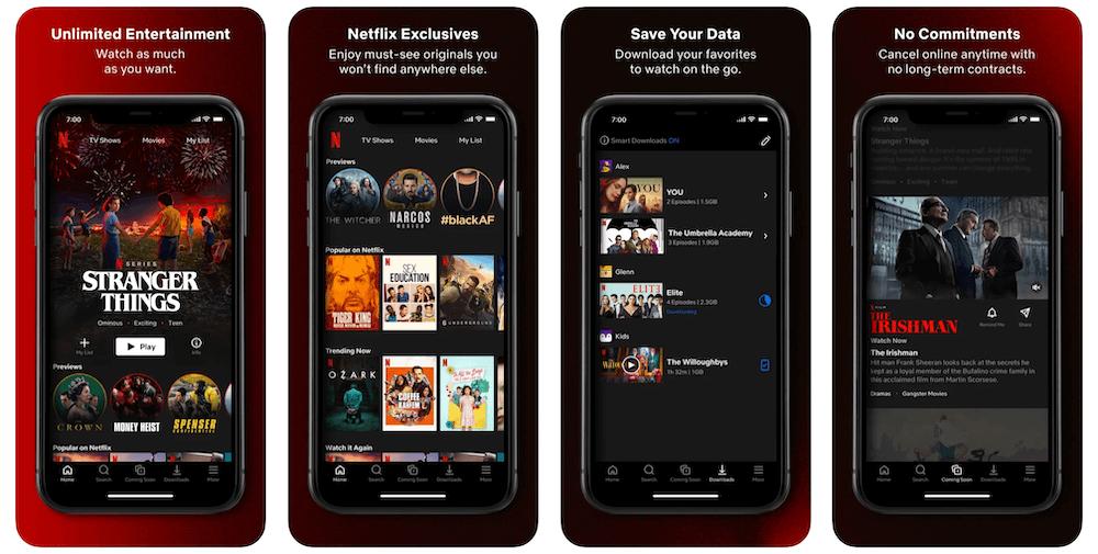 Netflix App in Apple App Store   Netflix Business Model   How Does Netflix Make Money?