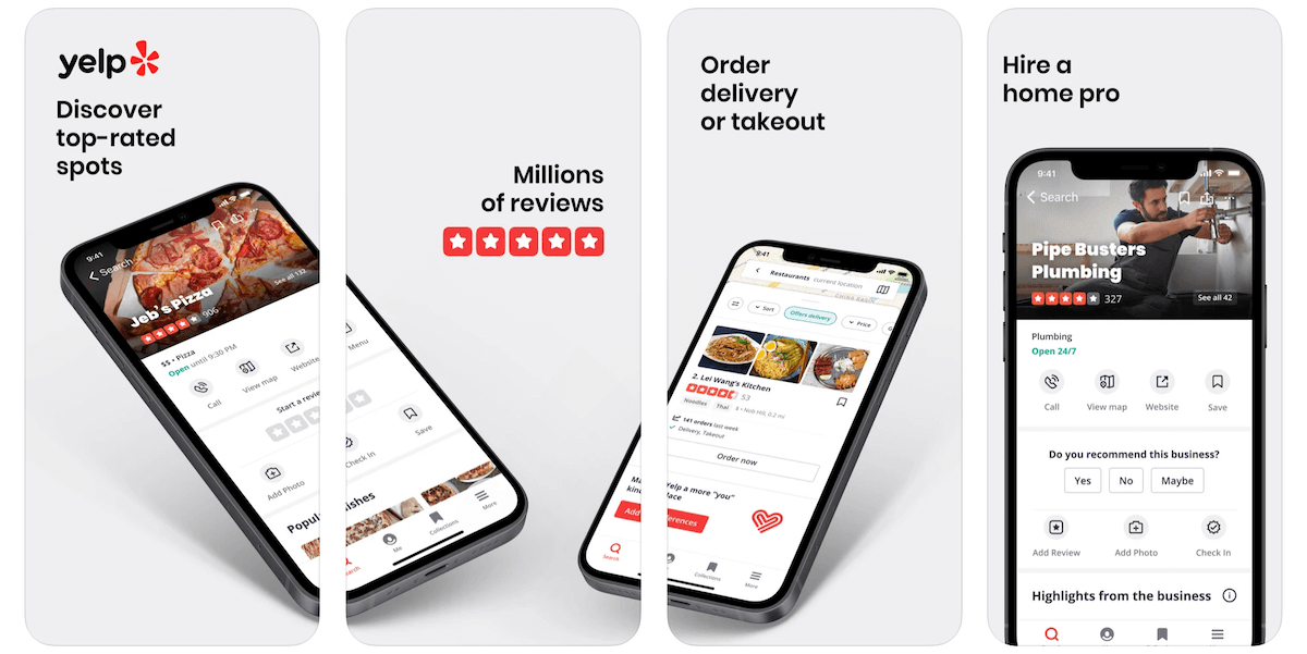 Yelp App in Apple App Store | Yelp Business Model | How Does Yelp Make Money?