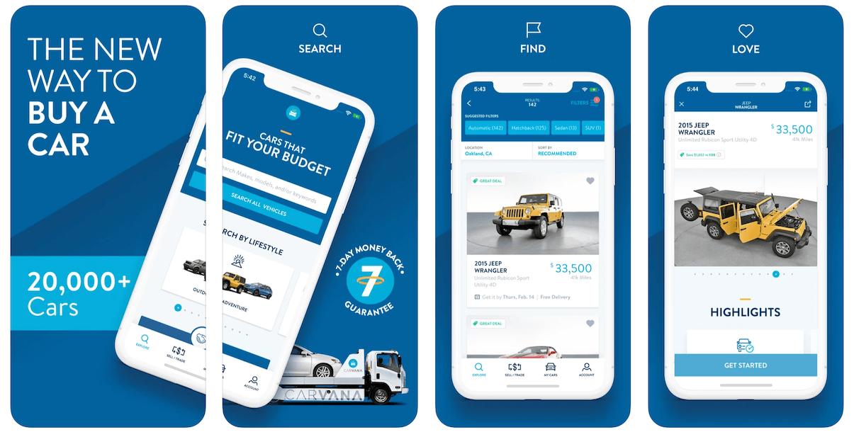 Carvana App in Apple App Store   Carvana Business Model   How Does Carvana Make Money?