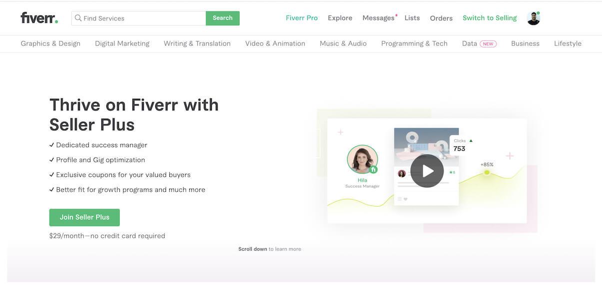 Fiverr Seller Plus   Fiverr Business Model   How Does Fiverr Make Money?