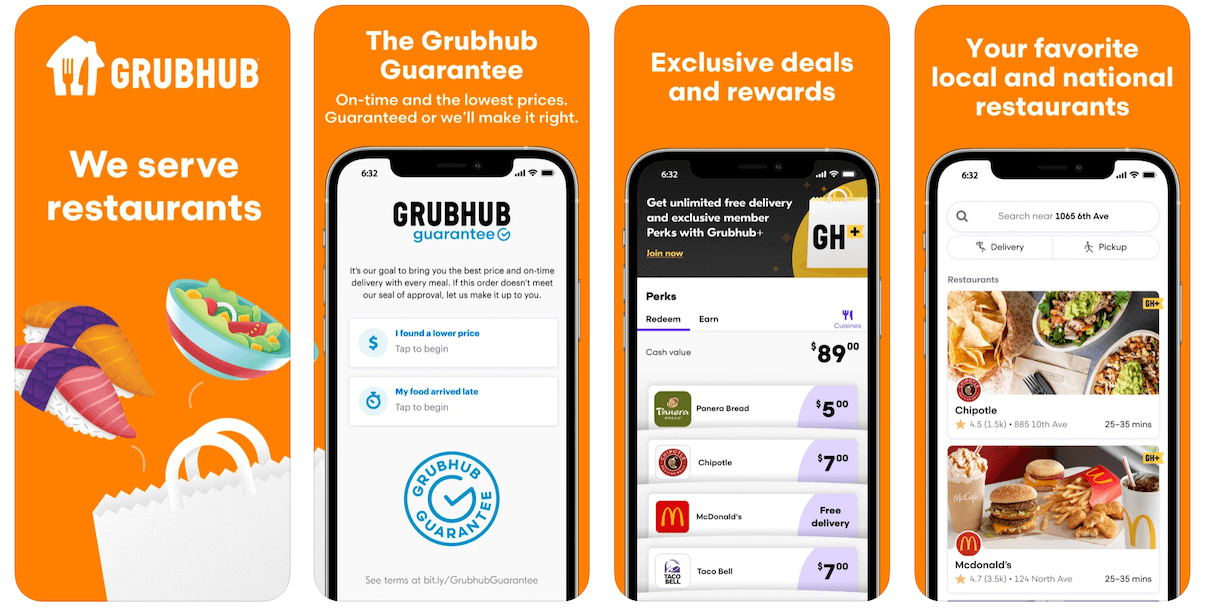 Grubhub App in Apple App Store | Grubhub Business Model | How Does Grubhub Make Money?