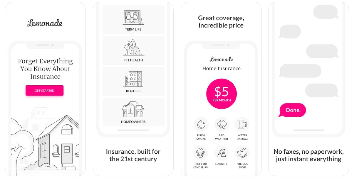 Lemonade Insurance App in Apple App Store   Lemonade Insurance Business Model   How Does Lemonade Insurance Make Money?